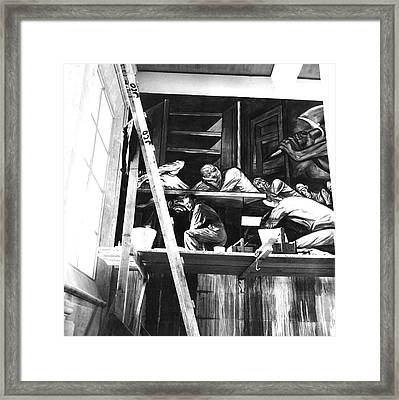 Jose Clemente Orozco On Scaffolding Framed Print