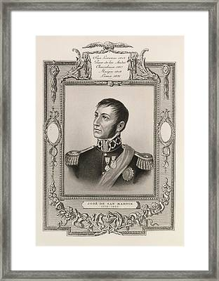 Jose De San Martin Framed Print by British Library