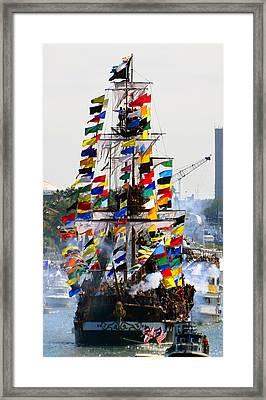 Jose Gasparilla Ship Work A Framed Print