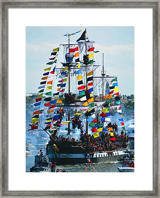 Jose Gasparilla Ship Work B Framed Print by David Lee Thompson