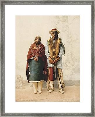 Jose Jesus And Wife Framed Print