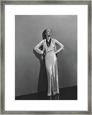 Jose-maria Sert Wearing A Chanel Dress Framed Print by Andre Durst
