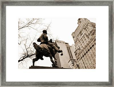 Jose Marti Equestrian Statue And The Ritz-carlton Vintage Look Framed Print by RicardMN Photography