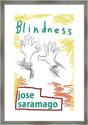 Jose Saramago Blindness Poster Framed Print by Paul Sutcliffe