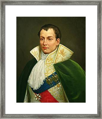 Joseph Bonaparte 1768-1844 Oil On Canvas Framed Print by Luigi Toro