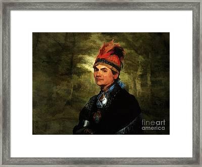 Joseph Brant After Stuart Framed Print by Lianne Schneider
