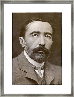 Joseph Conrad  Polish-born Writer Framed Print by Mary Evans Picture Library