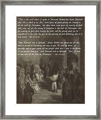 Joseph Interpreting Pharaoh's Dream Framed Print by Antique Engravings