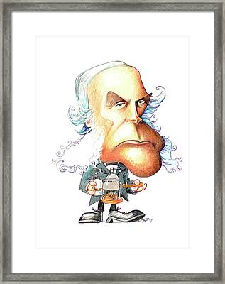 Joseph Lister Framed Print by Gary Brown