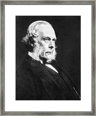 Joseph Lister Framed Print by National Library Of Medicine