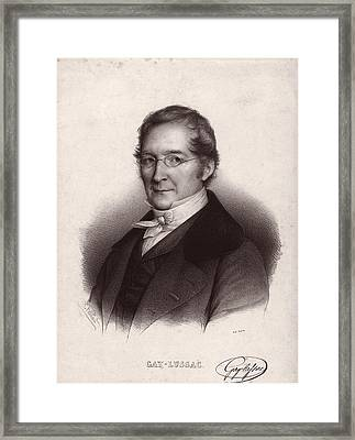 Joseph Louis Gay-lussac, French Chemist Framed Print by Science Photo Library