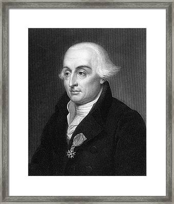 Joseph Louis Lagrange  French Scientist Framed Print by Mary Evans Picture Library
