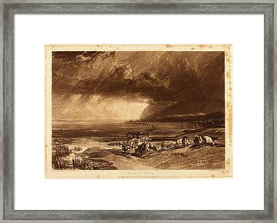 Joseph Mallord William Turner And Thomas Goff Lupton Framed Print by Litz Collection