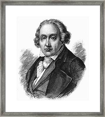 Joseph Marie Jacquard Framed Print
