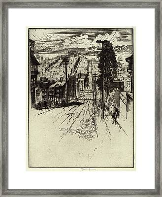 Joseph Pennell, Down And Up The Hills To The Bay Framed Print by Quint Lox