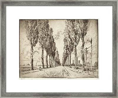 Joseph Pennell, The Avenue, Valenciennes Framed Print by Quint Lox