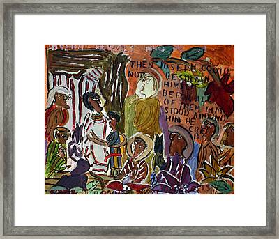 Joseph Reveals Who He Is Framed Print by Tommy D