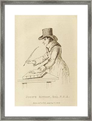 Joseph Ritson Framed Print
