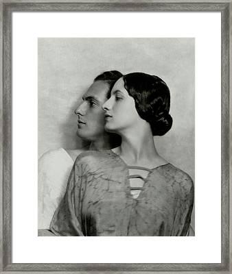 Joseph Schildkraut And Elise Bartlett Framed Print by Nickolas Muray