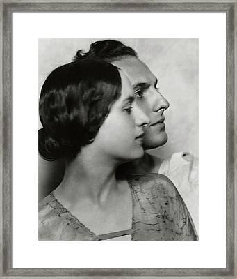 Joseph Schildkraut With Elise Bartlett Framed Print by Nickolas Muray
