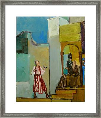 Joseph Sent To His Brothers Framed Print by Richard Mcbee