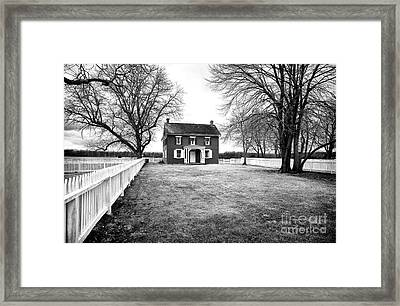 Joseph Serfy House Bw Framed Print by John Rizzuto