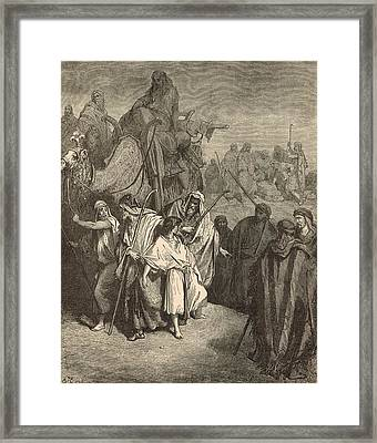 Joseph Sold Into Egypt Framed Print by Antique Engravings