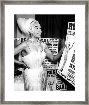 Josephine Baker Framed Print