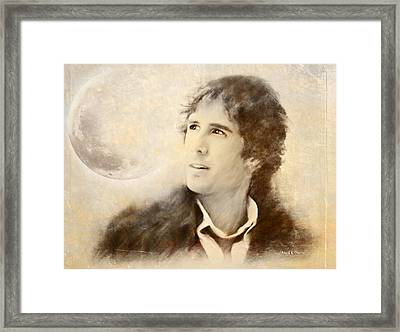 Josh Groban On A Cold Winter Night Framed Print by Angela A Stanton