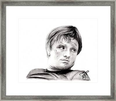 Josh Hutcherson 2 Framed Print by Rosalinda Markle