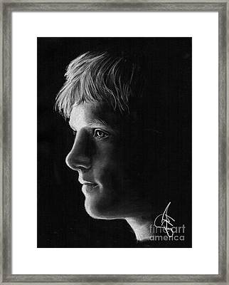 Josh Hutcherson Framed Print