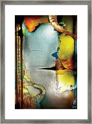 Joshua 1 Framed Print by Switchvues Design