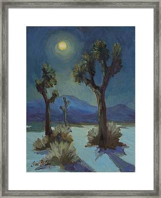 Joshua Moonlight 2 Framed Print by Diane McClary