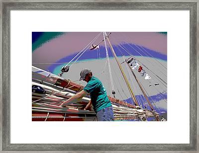 Joshua On Mobile Bay Framed Print