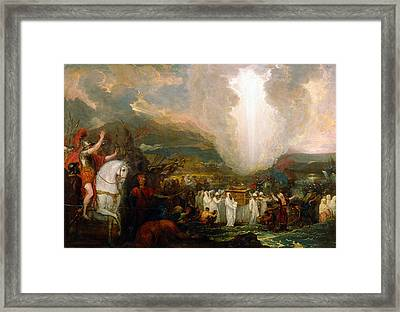 Joshua Passing The River Jordan With The Ark Of The Covenant Framed Print by Benjamin West