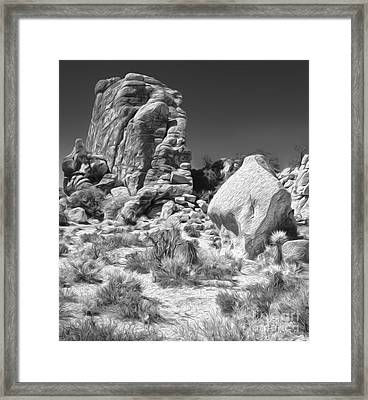 Joshua Tree - 14 Framed Print by Gregory Dyer