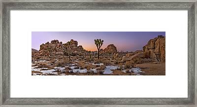 Joshua Tree Dusk Panorama Framed Print