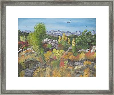 Framed Print featuring the painting Joshua Tree Park by Hilda and Jose Garrancho