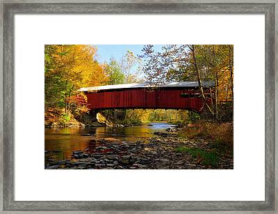 Josiah Hess Covered Bridge Framed Print