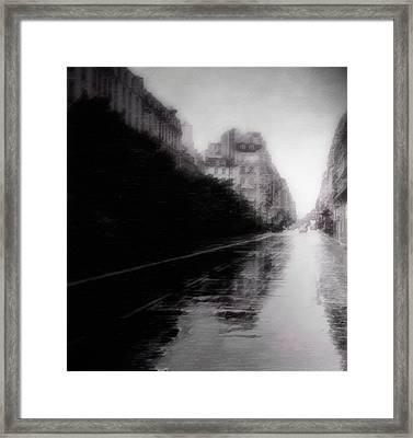 Jour De Pluie Framed Print