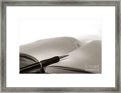 Journal Framed Print by Olivier Le Queinec