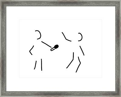 Journalist Microphone Framed Print by Lineamentum
