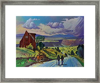 Journey Along The Road To Infinity Framed Print by Art James West