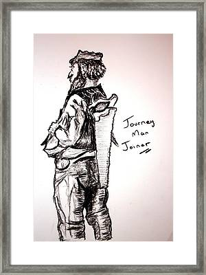 Journey Man Joiner Framed Print by Paul Morgan