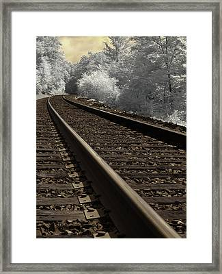 Journey On The Tracks Framed Print by Luke Moore