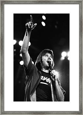 Journey Steve Perry 1983 Framed Print by Chris Walter