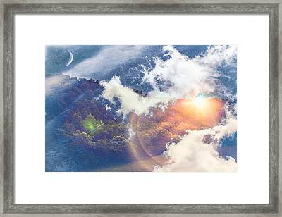 Journey To Another Dimension Framed Print