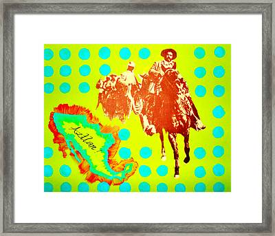 Framed Print featuring the painting Journey To Aztlan by Michelle Dallocchio