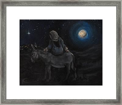 Journey To Bethlehem Framed Print