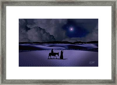 Journey To Bethlehem Framed Print by Schwartz